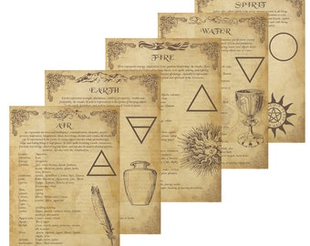 11 Book of Shadows Pages PDF instant download: Everything about the Elements