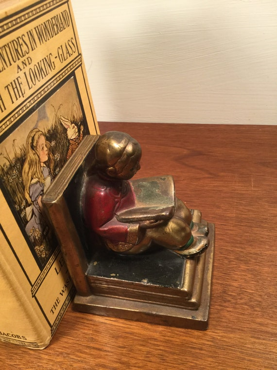 Vintage bronze bookends of chinese children by bronze armor - Armor bronze bookends ...