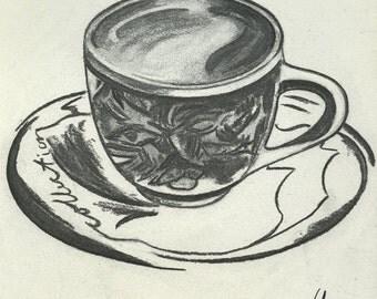 Espresso Charcoal Print