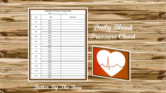daily blood pressure tracking chart printable