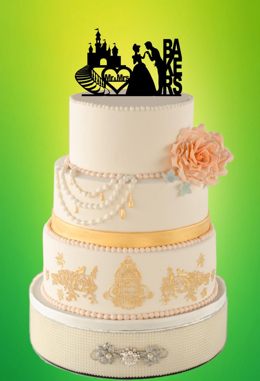 Disney Wedding Cake Topper cake topper princess wedding cake topper ...