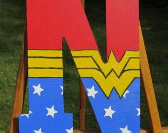 Painted Superhero Letters