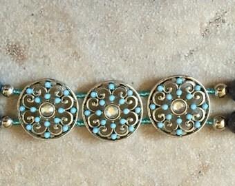 Silver Plated Sliders Bracelet