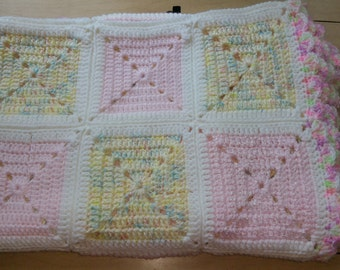 Baby Girl Granny Square Afghan