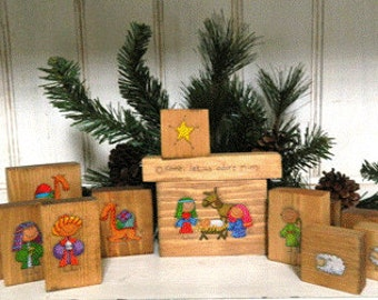 Wooden Block Nativity
