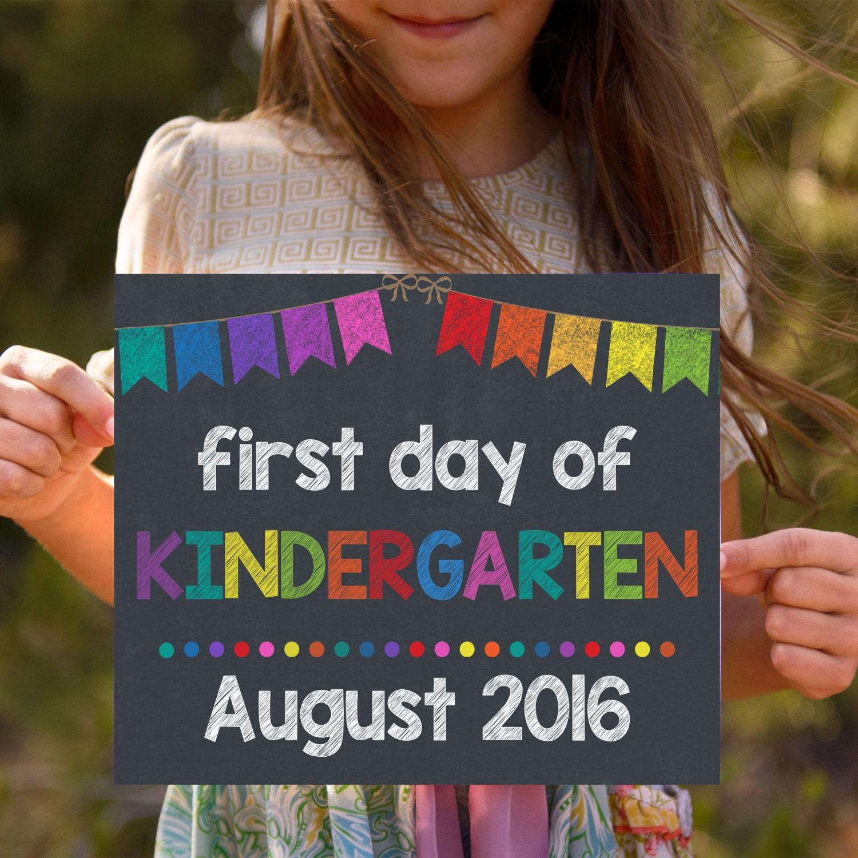 Kinder Garden: First Day Of Kindergarten Back To School Signs Kindergarten
