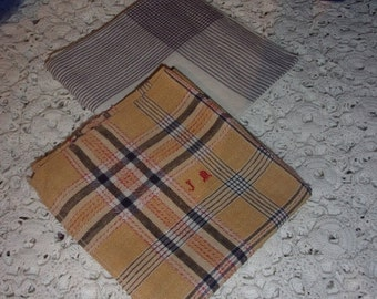 A lot of two large handkerchiefs former rural, farm work, neck