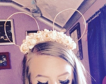 Mickey mouse ears rose gold