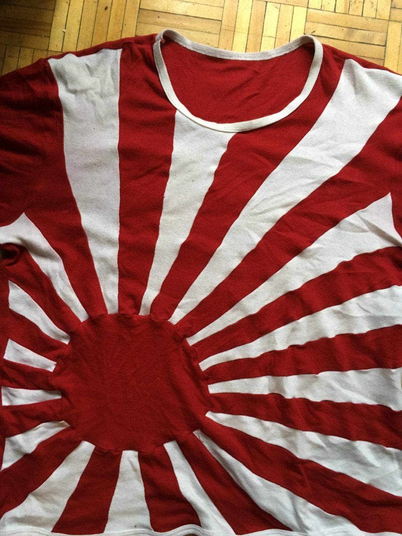 japan rising sun flag shirt retro new hand made japanese flag