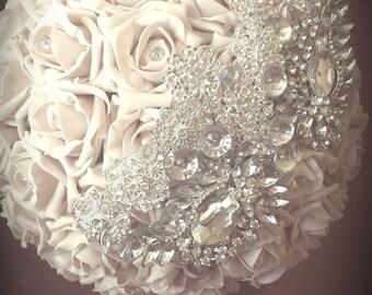 Bouquet vintage pink Crystal (pink and rhinestones)
