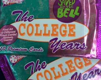 "Saved By The Bell ""the collage years"" trading cards"
