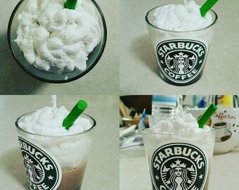 Handmade Starbucks coffee cup candle