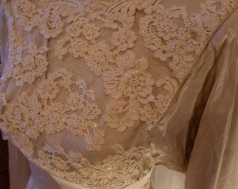 Silk Batwing Blush Ivory Dress