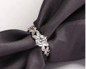 1.5 ct. white gold wedding ring