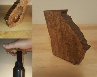 Wooden State of Georgia Bottle Opener