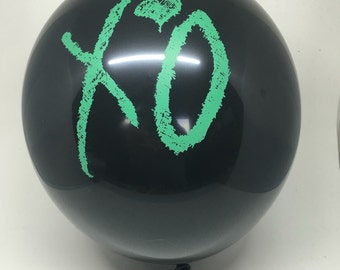 15 Pack - The Weeknd XO balloons - Abel Tesfaye XOTWOD Official Issue xo - Black/Green