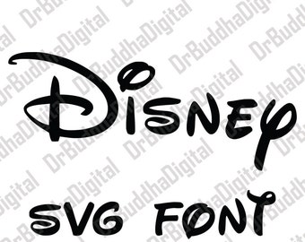 Sale! Disney Font SVG Collection - Disney Alphabet DXF - Disney Clipart - SVG Files for Silhouette Cameo or Cricut