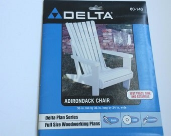 Delta Adirondack chair plans, adult size Adirondack chair plans, woodworking plans, DIY woodwork, DIY Adirondack chair,Muskoka chair