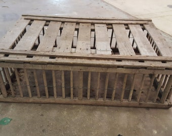 Chicken crate vintage DIY project farmhouse decor