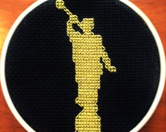 Angel Moroni Cross Stitch