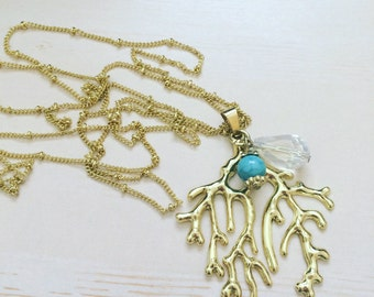 Sea theme coral neckless