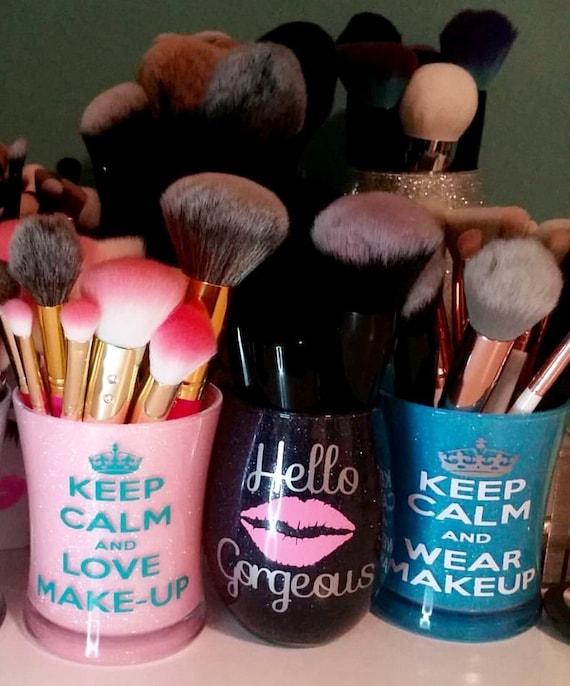 Items similar to Glitter Makeup brush holder, makeup ...