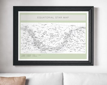 Constellation Map, Star Map, Space Print, Map of Stars, Space Art, Map Print, Astronomy Map, Modern Space Poster, Wall Art Prints