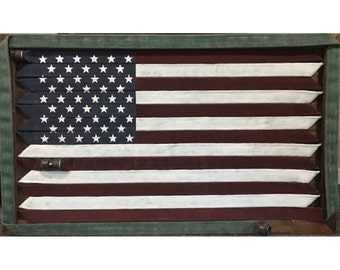 Fire Hose Flag - Full Flag - Repurposed Fire Hose - Handpainted (Unique Flag Dependant on Customer Choice) LOCAL PICKUP ONLY!