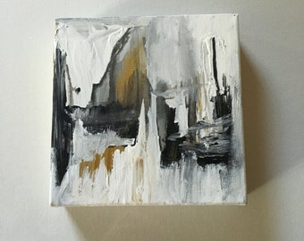 6x6 abstract canvas painting