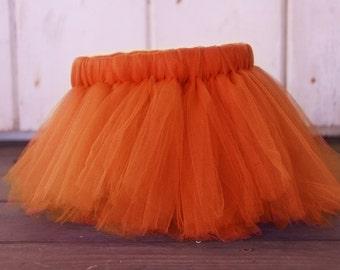 Orange Tutu, Orange Birthday Girl Tutu, Orange Baby Girl Tutu