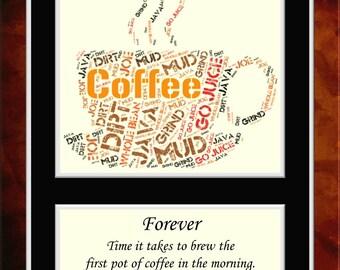 Coffee Word Art