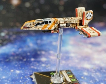 Star Wars X-Wing Miniatures Custom Painted Scum Pilot Dace Bonearm HWK-290 Hawk