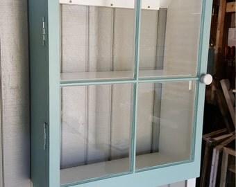 4 Pane Vintage Window Bathroom Cabinet