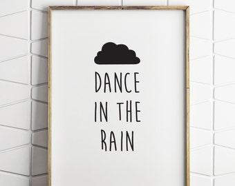 bedroom wall decor, kids wall decor, dance in the rain decor, kids bedroom wall decor, dance rain decor