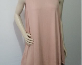 Blush color No Sleeve Loose Fit