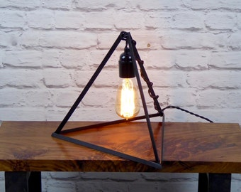 The Pyramid Lamp, Modern Industrial Chic