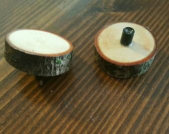 Log cabinet or drawer handles