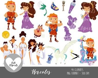 50% OFF SALE Hercules clipart-Hercules Digital ClipArt-Hercules Clipart-Disney clipart-zeus clipart-hercules stickers-hercules cute cliparts