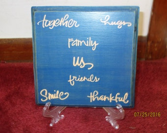 Family Together Plaque