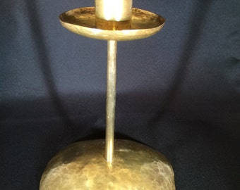 Handmade brass candlestick believed to date from early 1900s