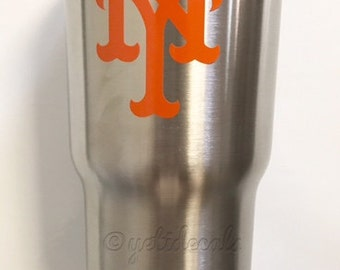 New York Mets Decal Sticker For Yeti RTIC Rambler Tumbler Coldster Beer Mug