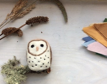 Needle felted Wool Barn Owl