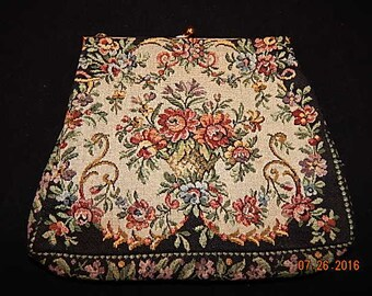 Vintage Walborg Tapestry purse Made in France