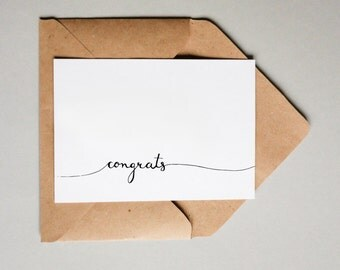 Congrats // Downloadable and Printable // Digital // Hand Lettered // Congratulations // Greeting Card