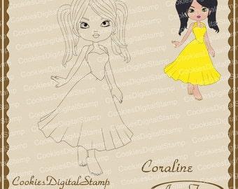 Coraline Digital Stamp