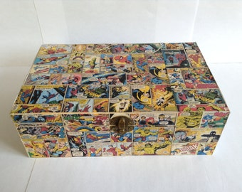 Marvel Comic Strip Wooden Keepsake Jewelry Box
