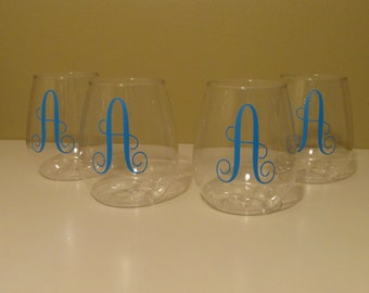 Personalized Plastic Wine Tumblers