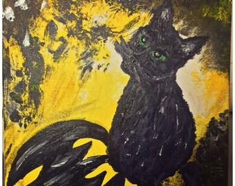 Dark Cat Rising Batman/Kitty/Cat Painting