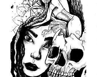 The Dark Self HORROR ART Giclee PRINT