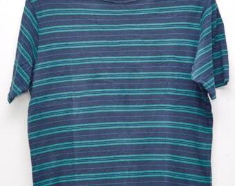 Vintage Sophner T Shirt Stripe Shirts Black Green Stripe Shirts Small Size